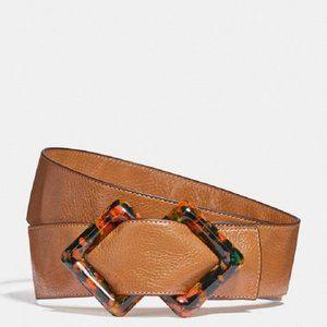 $128 *NEW* COACH Diamond Slider Buckle Belt, 45mm